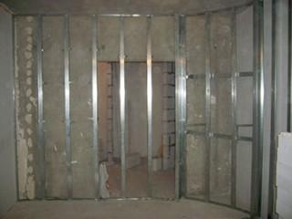 Облицовка стен гипсокартоном по металлическому каркасу
