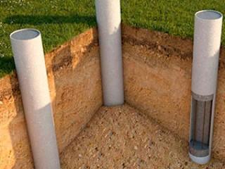 Столбчатый фундамент из пластиковых труб
