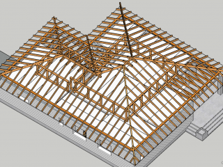Стропильная система четырехскатной крыши: виды, особенности, конструкция