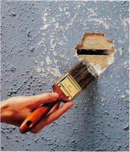 Заделка отверстий в стенах