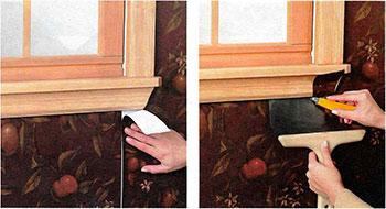 Как наклеить обои обои вокруг окон и дверей- способы оклеивания