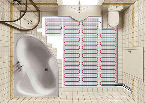 Как сделать теплый пол в ванной