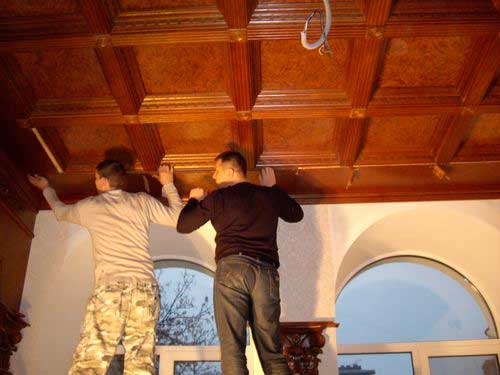Кессонный потолок своими руками