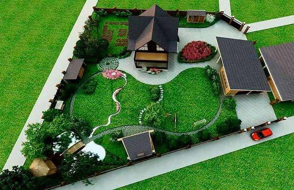 Ландшафтный дизайн дачного участка своими руками
