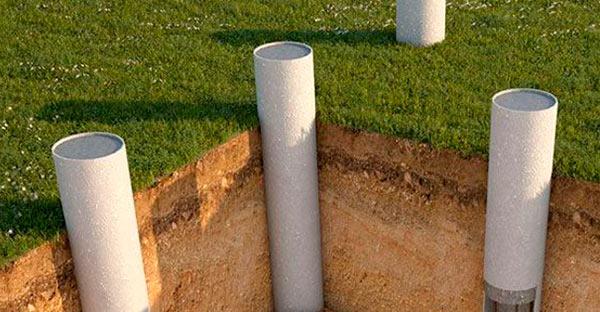 Столбчатый фундамент из пластиковых труб своими руками
