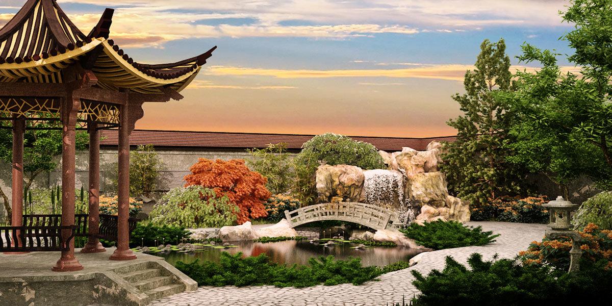 Ландшафтный дизайн. Китайский стиль
